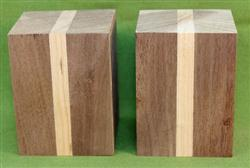"Blank #731- Black Walnut & Cherry Turning Blank - 2 Blanks ~ 3"" x 3"" x 4"" ~ $17.99"